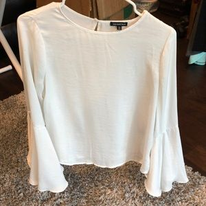 Creme Bell Sleeve Blouse
